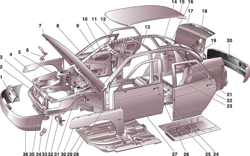 Кузов и комплектующие ВАЗ 21099