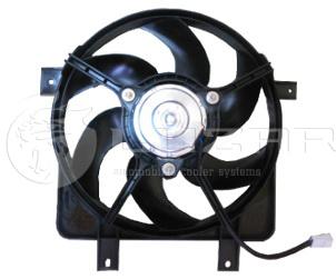 Вентилятор охлаждения радиатора на ВАЗ 2170 б/конд. (с кожухом)